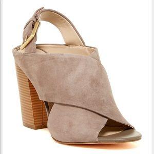 Calvin Klein Taupe Suede Sandals
