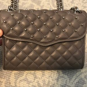 Rebecca Minkoff studded Mini Affair slate grey