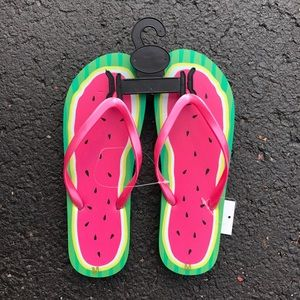 Shoes - Watermelon NWT flip flops
