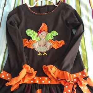 Thanksgiving girls tunic