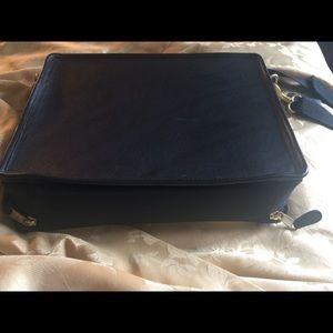 Vintage Coach leather/fabric laptop bag.
