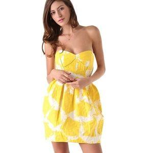 AUTHENTIC! Shoshanna Strapless Sunflower Dress