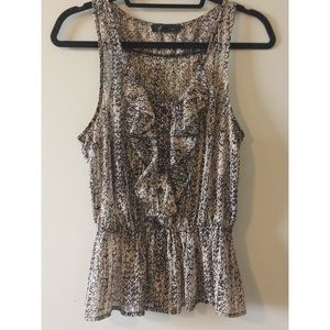 Forever 21 Peplum Blouse Tank Size Small