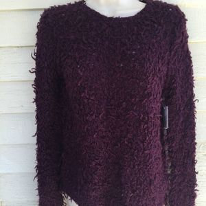FREE PEOPLE burgundy nubbly sweater! NWT/S