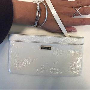 kate spade cream patent leather wristlet