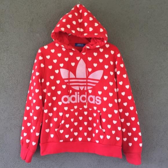 adidas hoodie heart