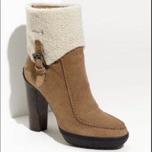 Tod's Brown Shearling Boot
