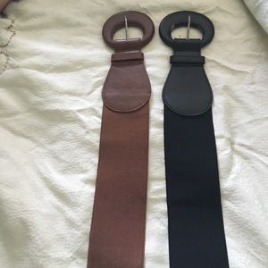 Urban outfitters belts black and brown size small