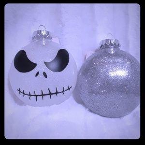 2 Jack skellington ornaments.
