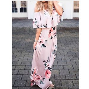Dresses & Skirts - Off shoulder maxi dress with ruffle detail