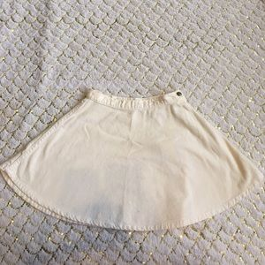 American Apparel Corduroy creme circle skirt NWT