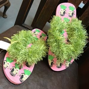 Hula Girl Hawaiian Flip Flop Grass