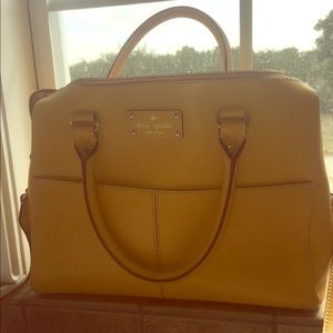 Kate Spade golden yellow tote, with shoulder strap