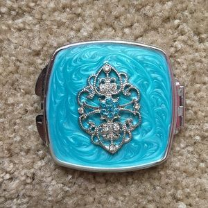 Accessories - Turquoise Compact Mirror