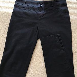 Anthropologie black cotton ankle pants
