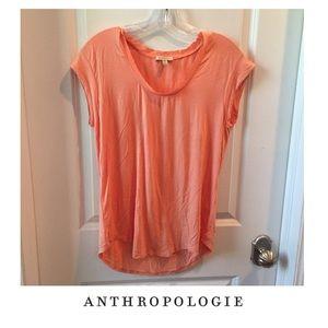 Anthropologie Bordeaux Orange Short Sleeve Tee