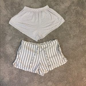 BRANDY MELVILLE striped shorts (2 pairs)