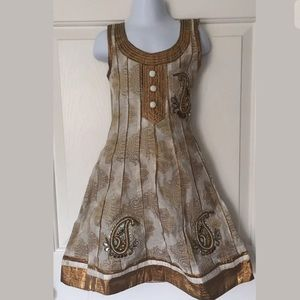Other - Silk Gold and White Indian Dress Aiyappas Size 24
