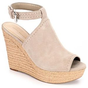 Marc Fisher Taupe Hunny Wedges