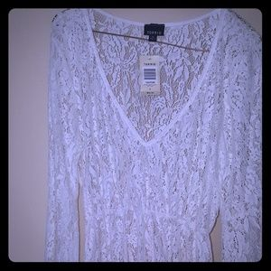 Lace Long Sleeve (swim) Cover up