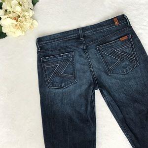 7FAM Flynt Dark Wash Boot Cut Jeans