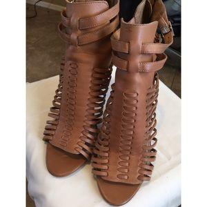 Vince Camuto Kipper brown heels