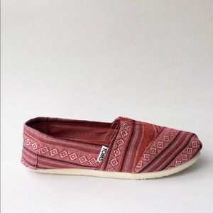 TOMS Women's Red Nepal Weave Shoes