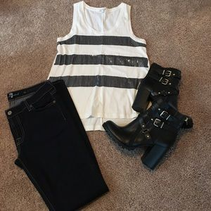 Sequin Stripe Gap tank