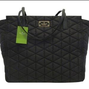 NWT ♠️Kate Spade♠️ black avenue quilted taden bag