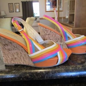 Zigi Soho rainbow wedges