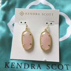 Kendra Scott Dani Earrings in Rose Quartz