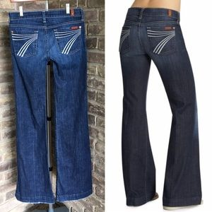 7 for all Mankind Dojo Wide Flare Leg Jeans