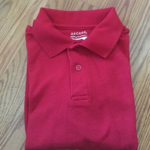 Other - Boys long sleeve red polo shirt