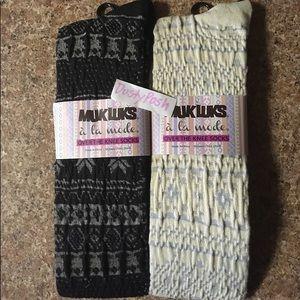 62e8e03d1fd Muk Luks Accessories - Muk Luk Over The Knee Socks Fair lsle Thigh High