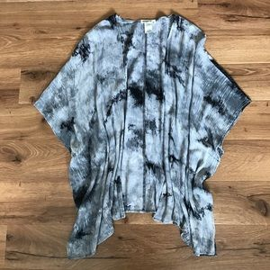 Printed Gray Kimono