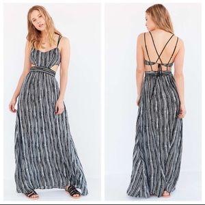 Ecote Hannah strappy back maxi dress tribal boho