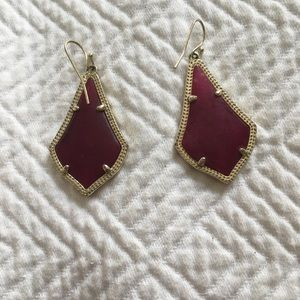 Kendra Scott Alex Earrings in Maroon Jade