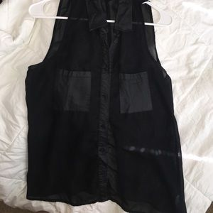 Material Girl Sheer Shirt