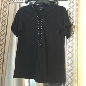 Lace up tshirt. Worn once