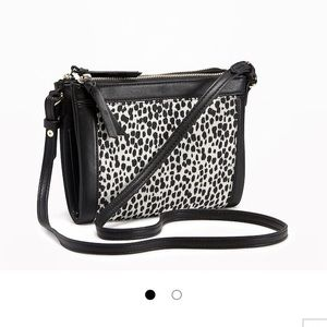 NWT Old Navy Black Animal Print Crossbody Bag