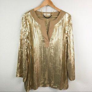 Michael Kors Gold Sequin Tunic