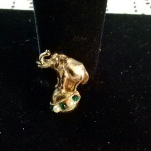 VINTAGE CIRCUS ELEPHANT ON BALL BROOCH for sale