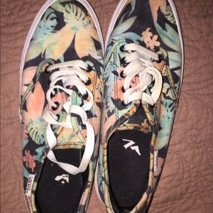 limited edition floral vans size 8 womens