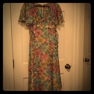 Original, handmade vintage floral maxi dress