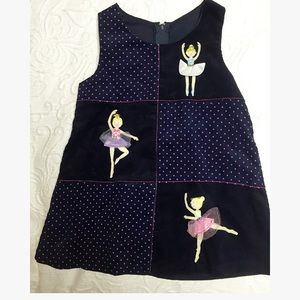 Girls 2T Corduroy Ballerina Jumper