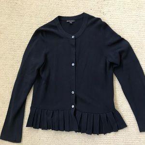 Brooks Brothers Ruffle Navy Sweater