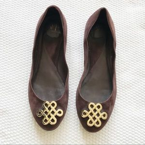 DVF Brown Suede Flats