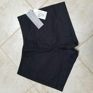 Women's black shorts.
