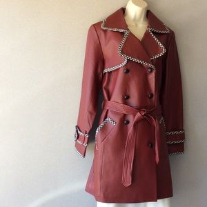 Spiegel leather 3/4 leather coat