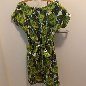 Kate Spade floral silk/satin dress